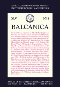 Balcanica XLV 2014