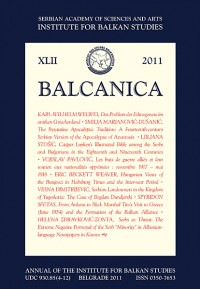 BALCANICA - Annual of the Institute for Balkan Studies XLII (2011)