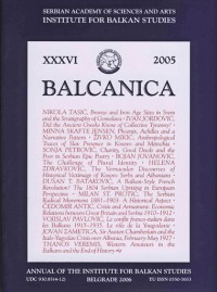 BALCANICA - Annual of the Institute for Balkan Studies XXXVI (2005)
