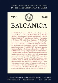 Balcanica XLVI 2015