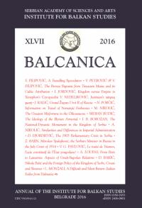 Balcanica XLVII 2016